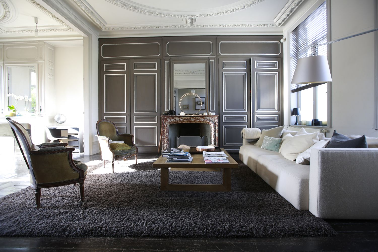 Une maison bourgeoise 19 me si cle patrick geffriaud design for Interieur 19eme siecle